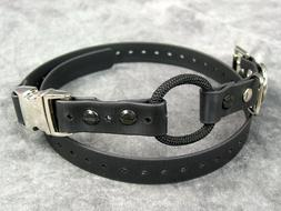"""3/4"""" Biothane Dog Buckle Bungee E-collar Strap Quick Snap Fo"""