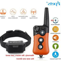Ipets 1000ft Remote Dog Shock Collar Rechargeable Waterproof