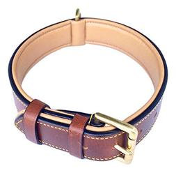 Soft Touch Collars - Luxury Real Leather Padded Dog Collar B