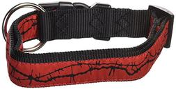 """Hamilton 1"""" x 18-26"""" Adjustable Dog Collar with Barbed Wire"""
