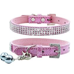 PUPTECK Basic Adjustable Dog Cat Collar Bling Diamante with