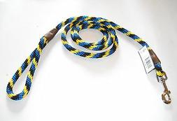 "WARNER BRAIDED NYLON ROPE SNAP LEAD DOG LEASH  1/2"" X 6 ft."