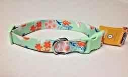 BRAND NEW Dog Collar LARGE Mint Green with Print Quick Relea