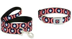 Buckle Down Dog Collar or Leash - Captain America Marvel Com