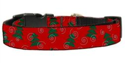 Mirage Pet Products Christmas Trees Nylon Ribbon Collar for