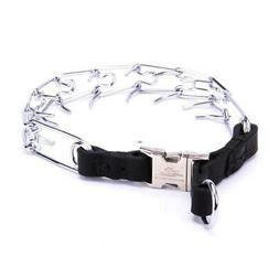 Chrome Plated Dog Pinch Collar with Quick Release   Dog Pron