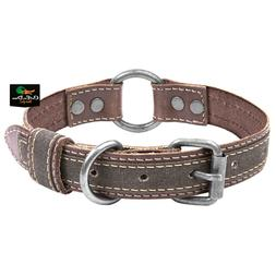 NEW BROWNING CLASSIC BROWN LEATHER DOG COLLAR LARGE W/ BUCKM