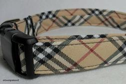 Classic Check Plaid Handcrafted Dog Collar -Great Look- Free