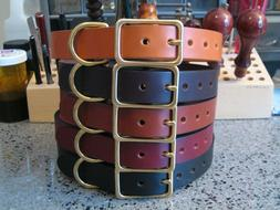 "Classic Leather Dog Collar 1"" Wide for Medium & Large Dogs S"