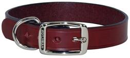 "Hamilton 1"" x 22"" Creased Burgundy Leather Dog Collar"