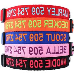 Custom Embroidered Dog Collars - Personalized ID Collars wit