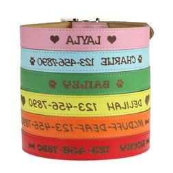 Customized Boy/Girl Dog Collar with Name - Personalized Cust
