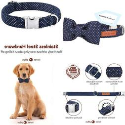 Lionet Paws Dog and Cat Collar with Bowtie,Soft and Comforta