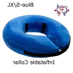 Dog Cat Pet Protective Inflatable Collar Pet Recovery Soft E