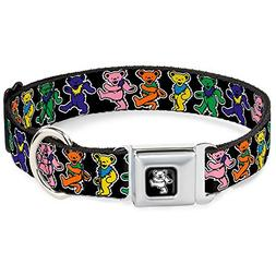 Dog Collar - Grateful Dead Dancing Bears Black/Multi Color S