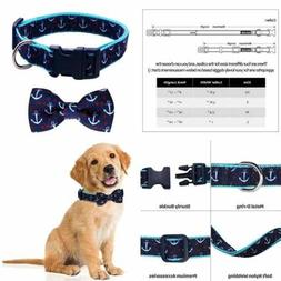 Dog Collar Bow Tie Soft Adjustable Collars For MEDIUM Dogs
