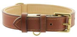 Soft Leather Padded Dog Collar, Eco-Friendly, Made From Prem