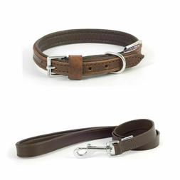 Dog Lead or Collar Ancol Vintage Leather Dog Puppy Padded Ch
