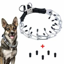 Dog Prong Collar Metal Pinch Training Collars With Quick Rel