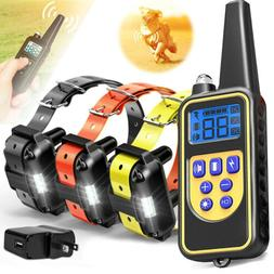 Dog Shock Collar With Remote Waterproof Electric For Large 9