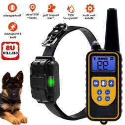 Dog Shock Training Collar Rechargeable Remote Control Waterp