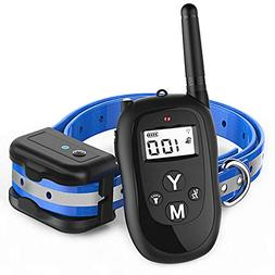 Dog Training Collar, 1000 Foot Waterproof Rechargeable Remot