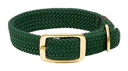 Mendota Pet Double Braid Dog Collar, Hunter Green, 1 x 18-In