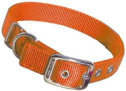 Double Thick Nylon Dog Collar, 1 x 22 Mango