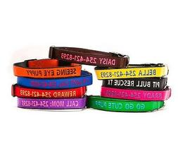 Embroidered Personalized Dog Collar Extra Durable Extra Toug