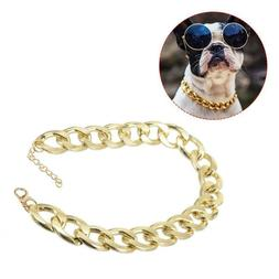 Fahion Pet Dog Cat Chain Collar Curb Cuban Link Puppy Cat Ch
