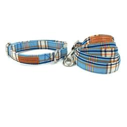 Fashion Plaid Dog Harness Basic Cotton Necklace and Dog Leas