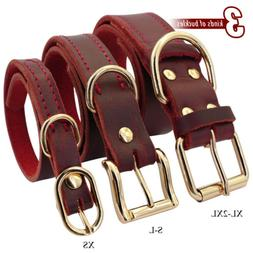 Genuine Leather Dog Collar Heavy Duty Dog Collars for Small