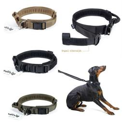 HEAVY DUTY Tactical Training Dog Collar with Handle/Alloy Bu