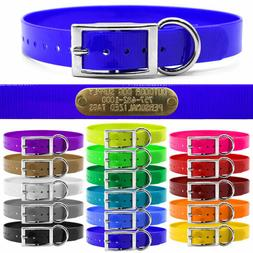 """Hunting Dog Name Collar Strap 1"""" Solid Color D Ring & Free B"""