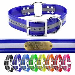 """21"""" Hunting Dog Name Collar Strap Heavy Duty Center Ring 1 1"""
