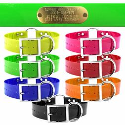 """21"""" Hunting Dog Name Collar Strap Heavy Duty Ring in Center"""