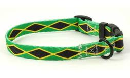 Jamaica Jamaican Flag Dog Pet Collar by PatriaPet for Small
