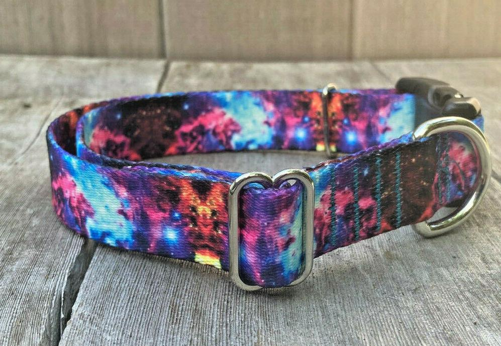 1 inch colorful galaxy cosmic adjustable dog