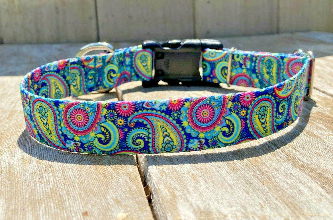 1 Adjustable Dog Collar with Quick Release Buckle USA Made
