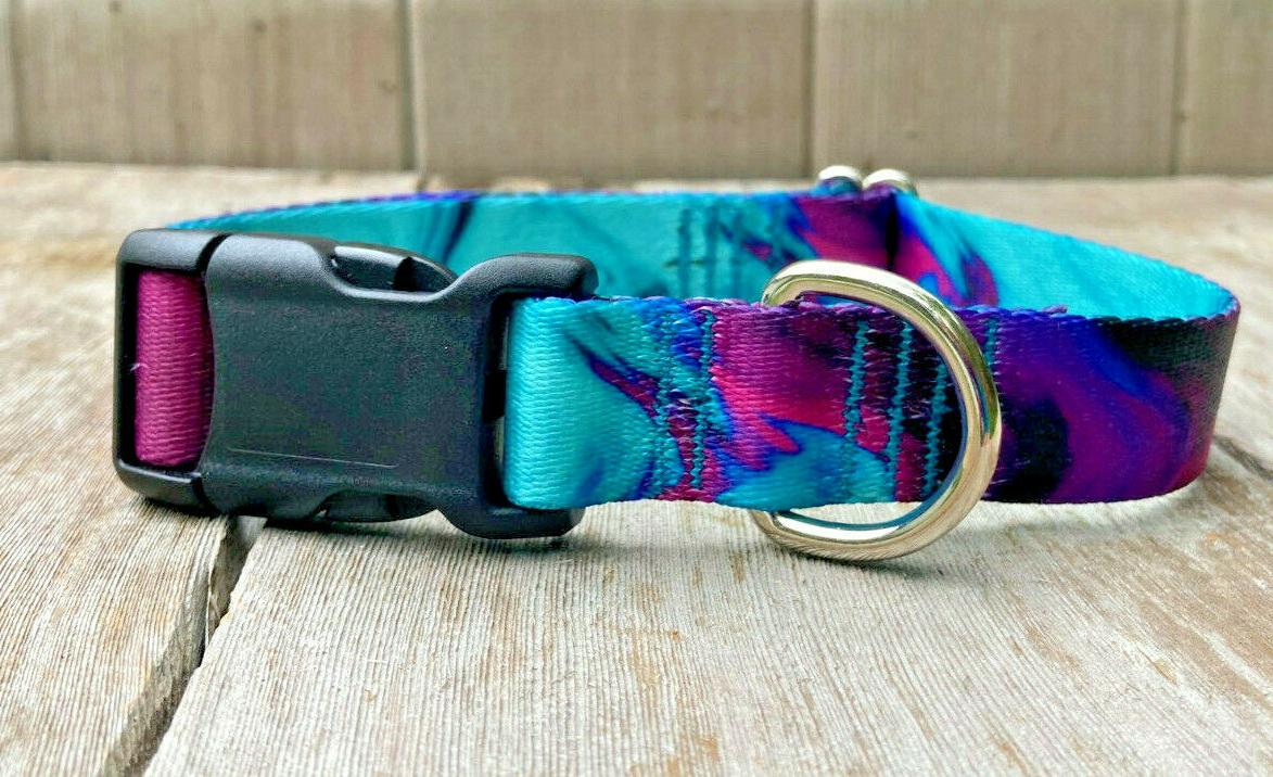 1 inch colorful purple and teal adjustable