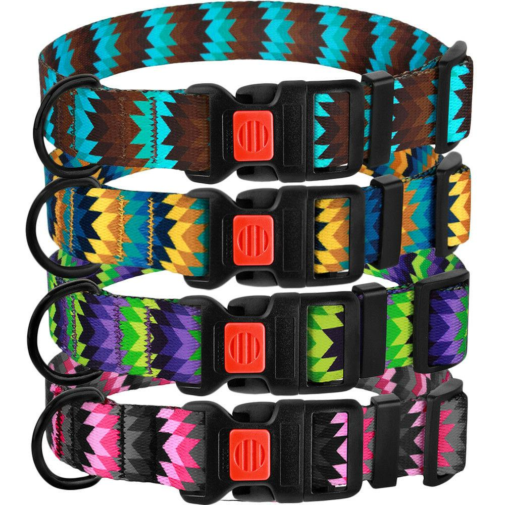 Adjustable Buckle Nylon for Dogs Puppy M L XL