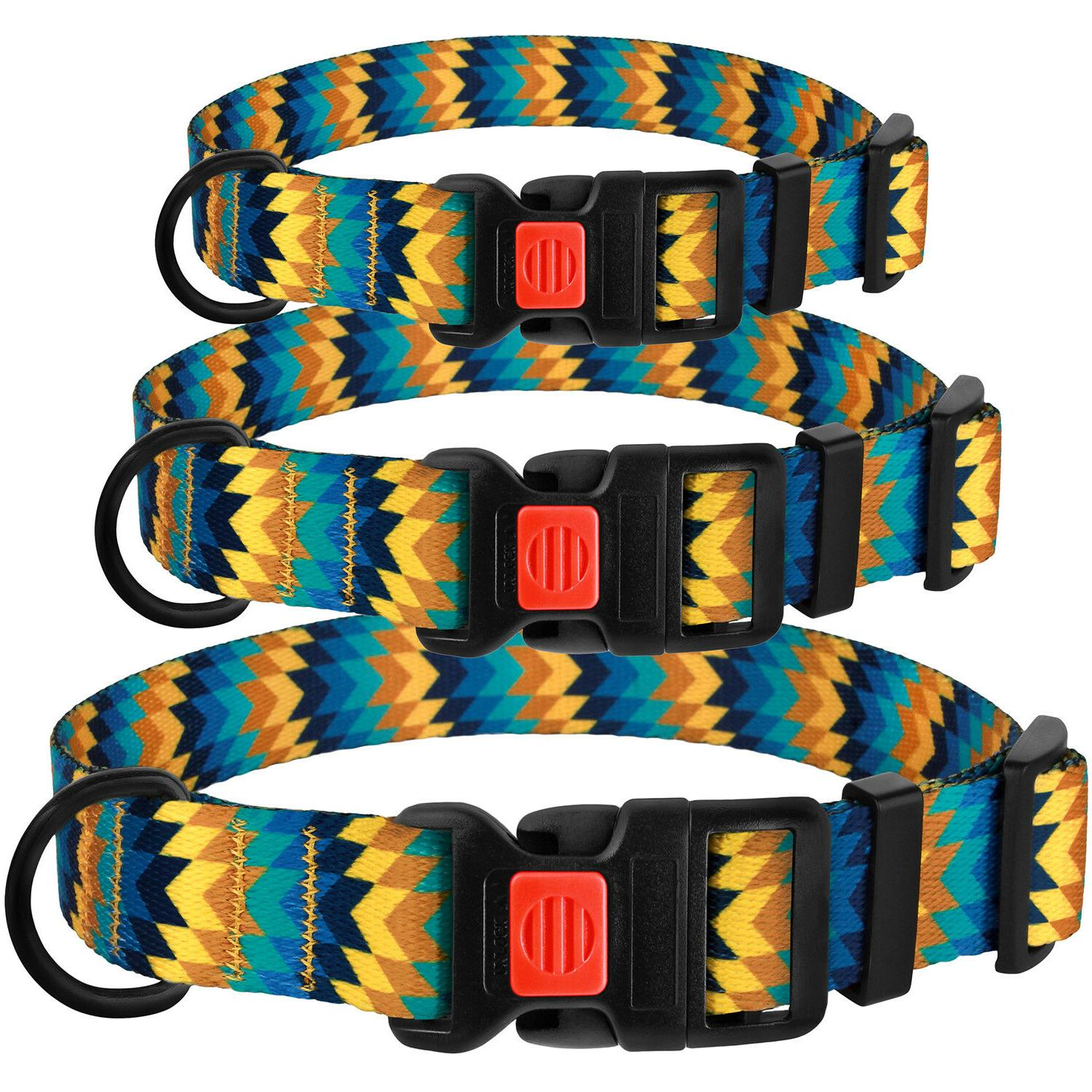 Adjustable Dog Collar with Buckle Nylon Dogs Puppy S L XL