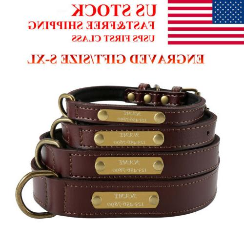 dog pet cat leather personalised collar