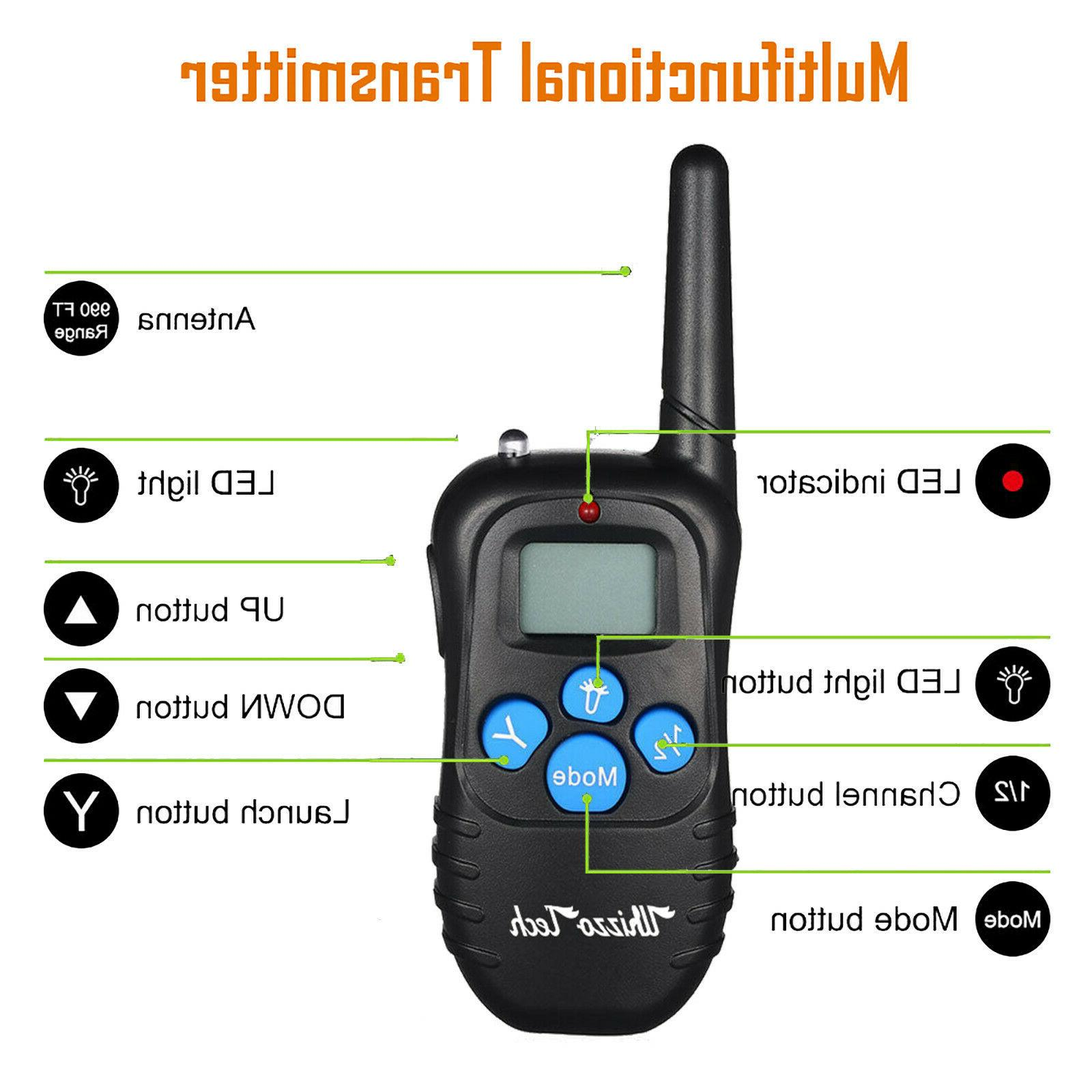 Dog Rechargeable LCD Remote Control Waterproof