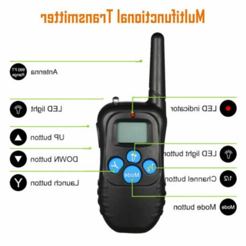 Dog Shock Training Collar Rechargeable Control Waterproof 330