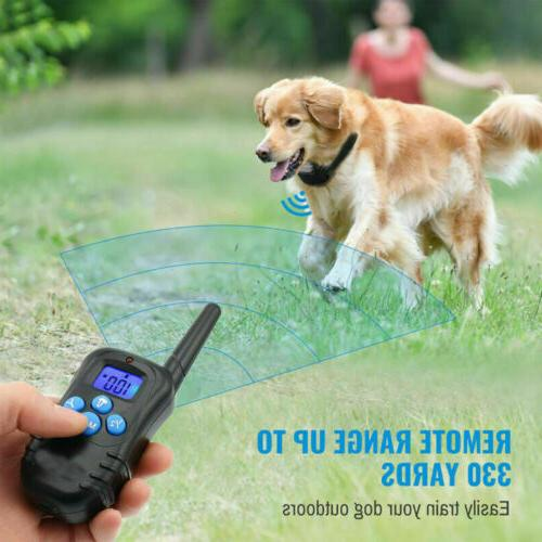 Dog Training Rechargeable LCD Remote Waterproof 330