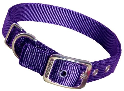 Hamilton Double Thick Nylon Deluxe Dog Collar, 1-Inch by 22-