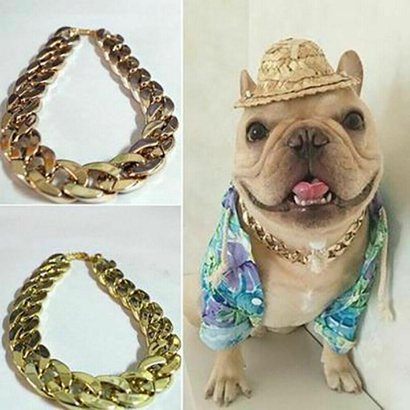 Fahion Pet Dog Cat Chain Collar Curb Link Necklace US