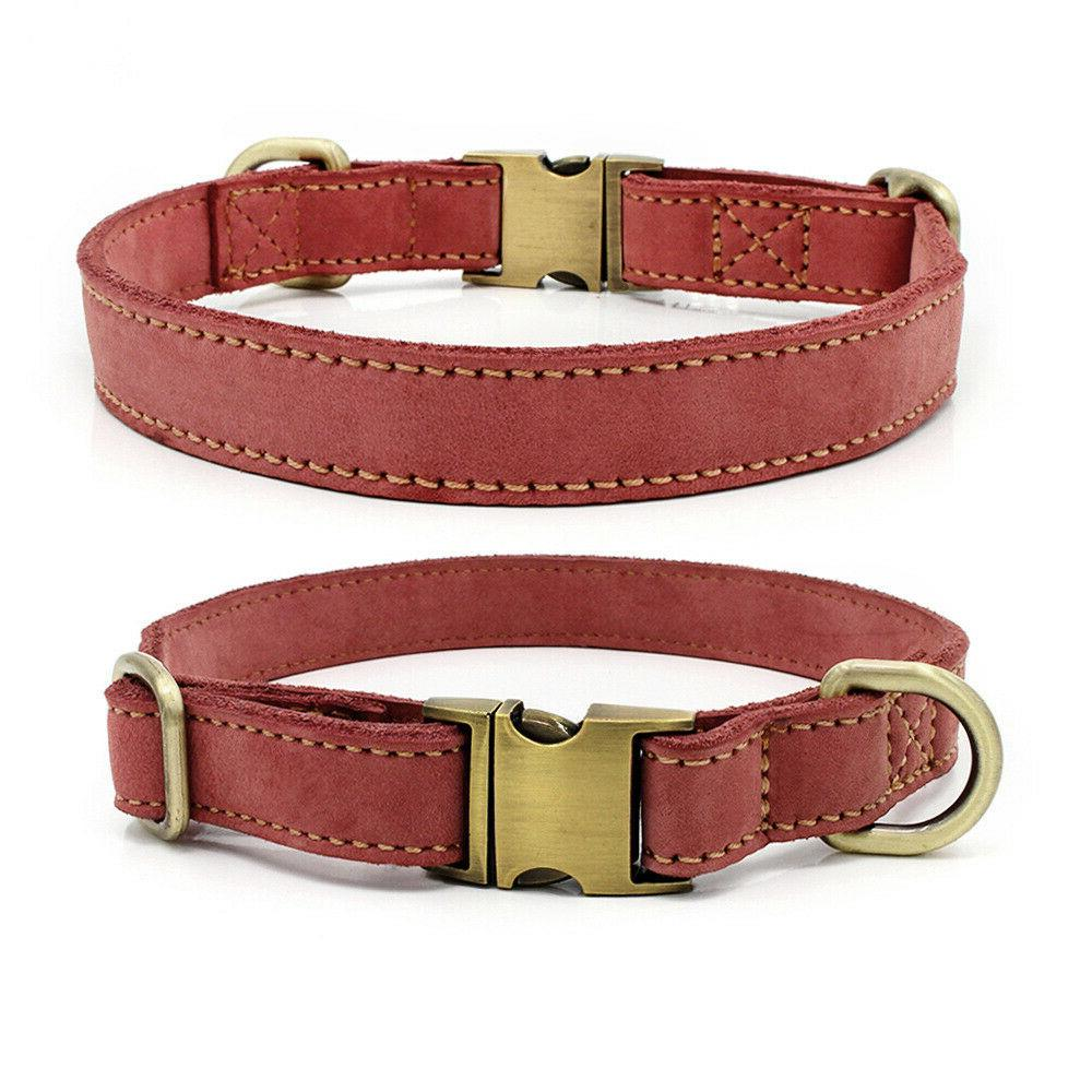 Genuine Leather Collar Tag Engraved L