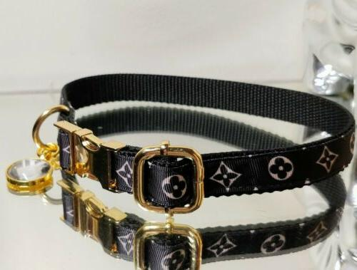 La GOLD METAL BUCKLE Dog Collar in Rt.$68-